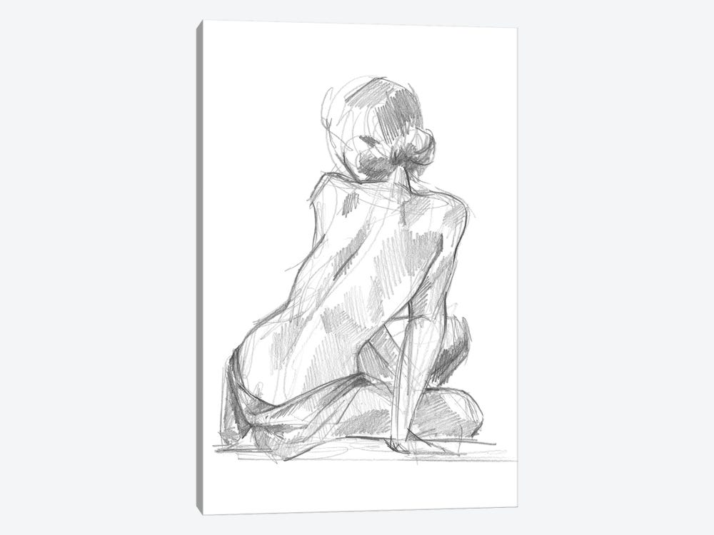 Sitting Pose II by Jennifer Paxton Parker 1-piece Art Print