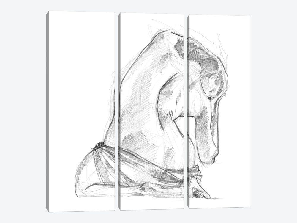 Sitting Pose IV by Jennifer Paxton Parker 3-piece Canvas Print