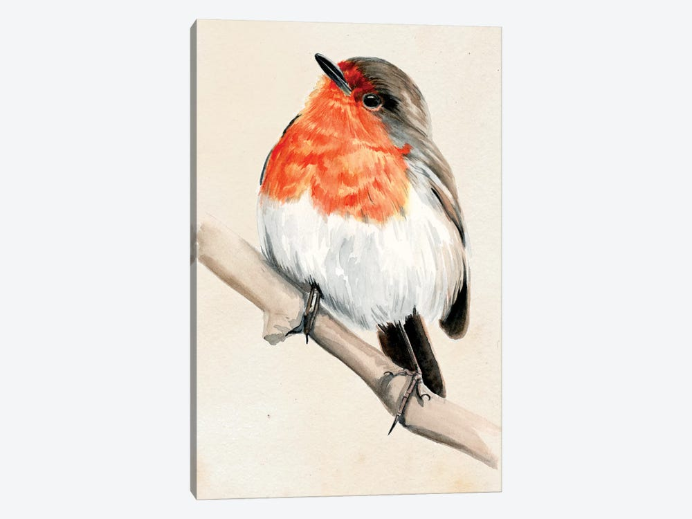 Little Bird On Branch IV by Jennifer Paxton Parker 1-piece Canvas Art Print