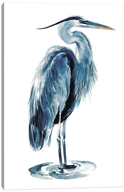 Blue Blue Heron I Canvas Art Print