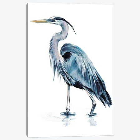 Blue Heron II 3-Piece Canvas #JPP96} by Jennifer Paxton Parker Art Print
