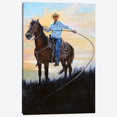 Rancher Canvas Print #JPR11} by Jan Perley Canvas Wall Art