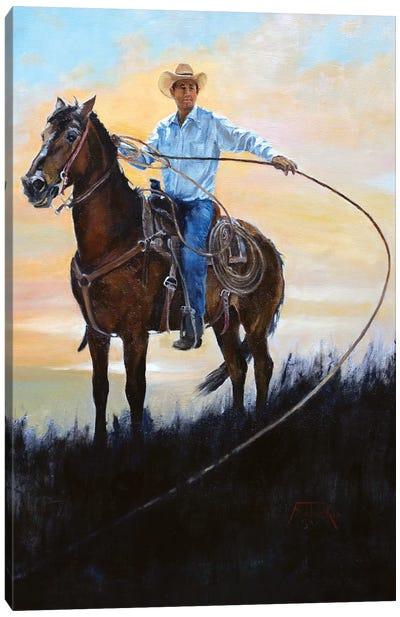 Rancher Canvas Art Print