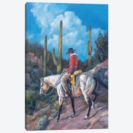 Saguaro Shortcut Canvas Print #JPR12} by Jan Perley Canvas Wall Art