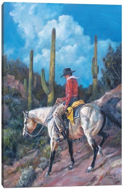 Saguaro Shortcut Canvas Art Print