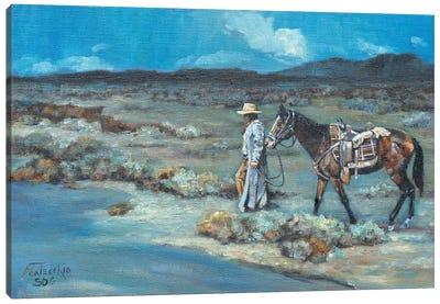 The Long Walk Home Canvas Art Print