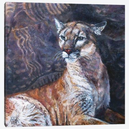 The Puma of Parowan Gap Canvas Print #JPR22} by Jan Perley Canvas Print
