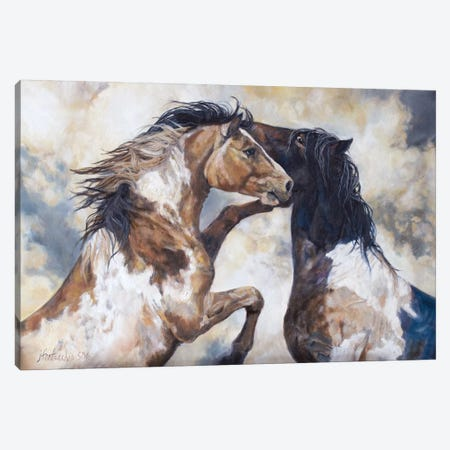 The Wild Life Canvas Print #JPR23} by Jan Perley Canvas Art Print