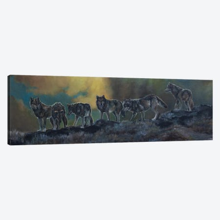 The Ridgeline Pack Canvas Print #JPR28} by Jan Perley Canvas Print