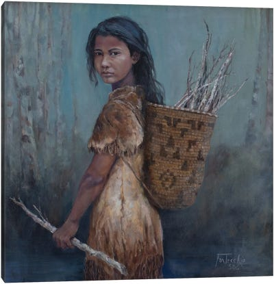 The Kindling Collector Canvas Art Print