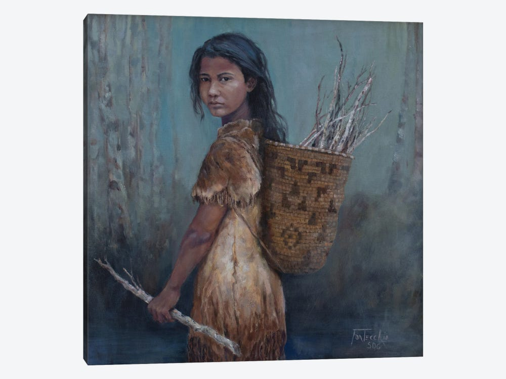 The Kindling Collector by Jan Perley 1-piece Canvas Art