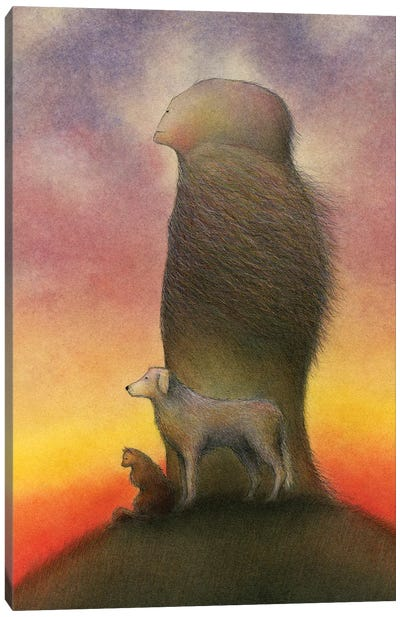 Gentle Of Spirit And Noble Of Heart Canvas Art Print