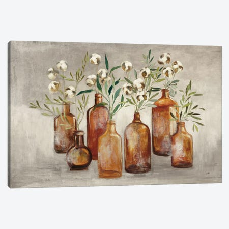 Cotton Still Life I Gray Canvas Print #JPU102} by Julia Purinton Canvas Print