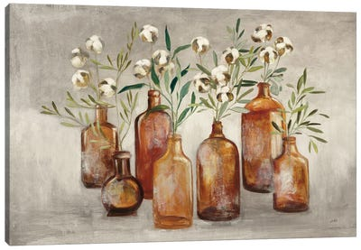 Cotton Still Life I Gray Canvas Art Print