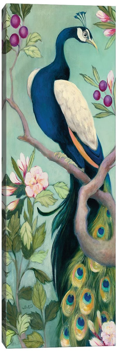 Pretty Peacock I Crop Canvas Art Print