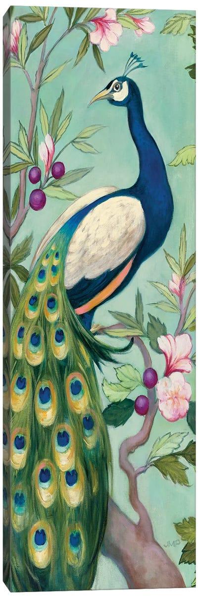 Pretty Peacock II Crop Canvas Art Print