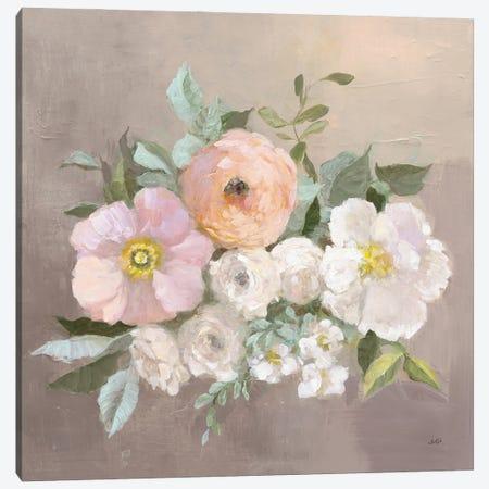 Pale Floral Spray II Canvas Print #JPU112} by Julia Purinton Canvas Wall Art