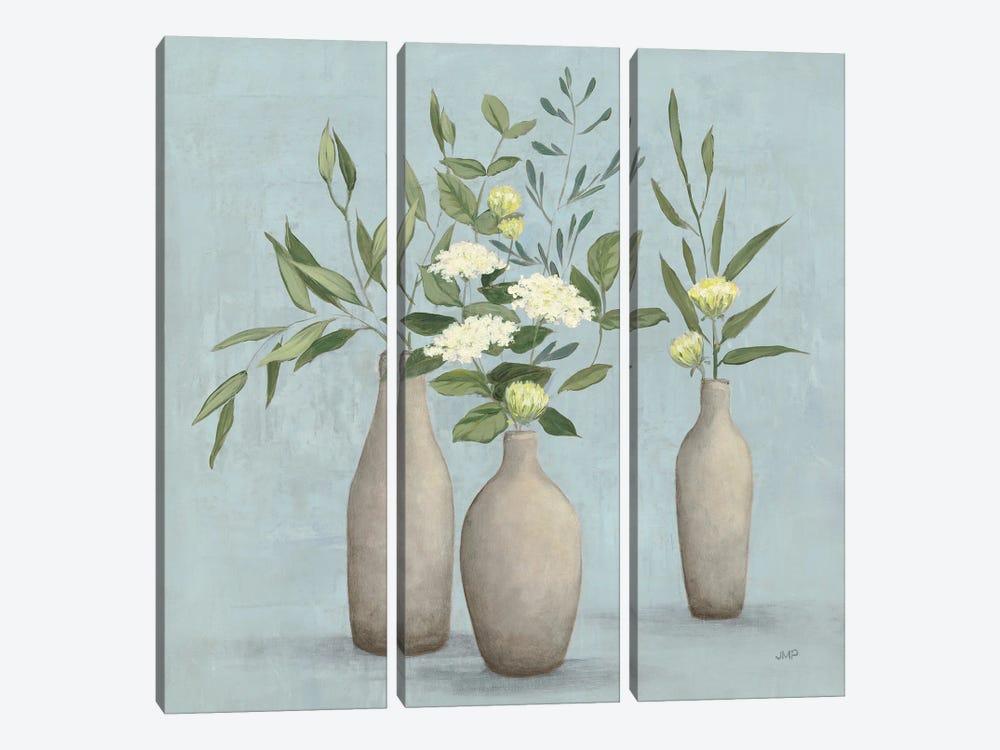 Natural Bouquet I Blue by Julia Purinton 3-piece Canvas Wall Art