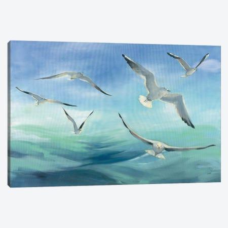 Sea Flight Canvas Print #JPU117} by Julia Purinton Canvas Print