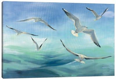 Sea Flight Canvas Art Print