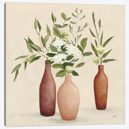Natural Bouquet I Light Canvas Print #JPU125} by Julia Purinton Canvas Wall Art