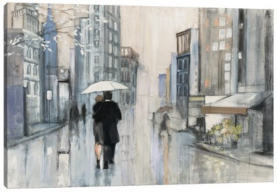 Spring Rain New York Neutral Canvas Art Print