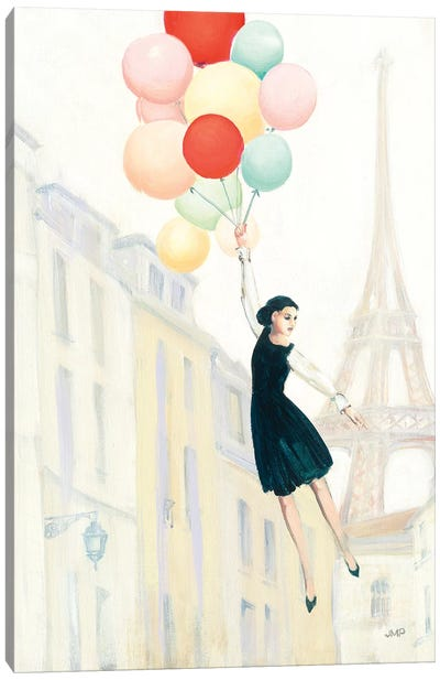 Aloft In Paris II Canvas Art Print