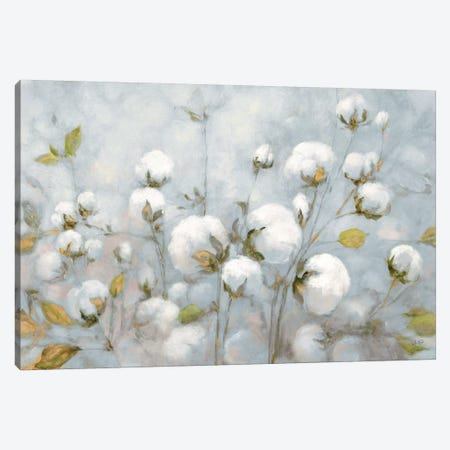 Cotton Field In Blue Gray Canvas Print #JPU1} by Julia Purinton Canvas Art Print