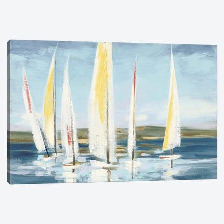 Horizon with Red Canvas Print #JPU20} by Julia Purinton Canvas Artwork