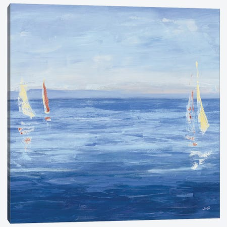 Open Sail with Red Crop Canvas Print #JPU21} by Julia Purinton Canvas Wall Art
