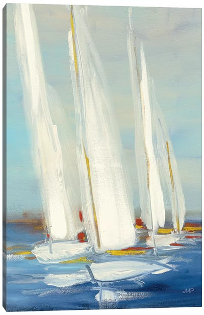 Summer Regatta II Red Yellow Canvas Art Print