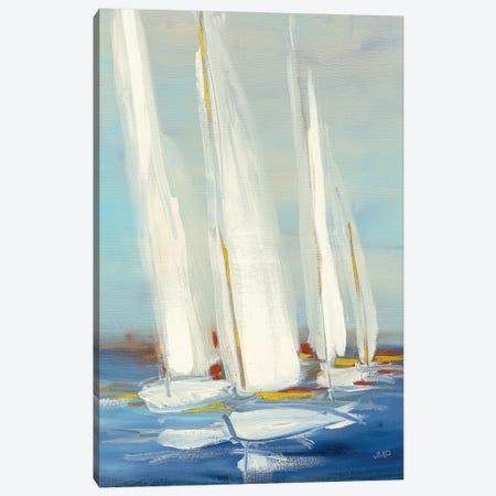Summer Regatta II Red Yellow Canvas Print #JPU22} by Julia Purinton Canvas Art