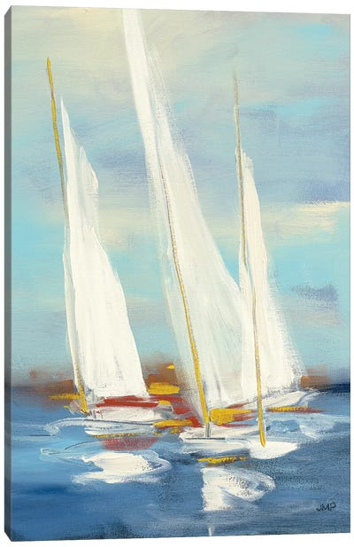 Summer Regatta III Red Yellow Canvas Art Print