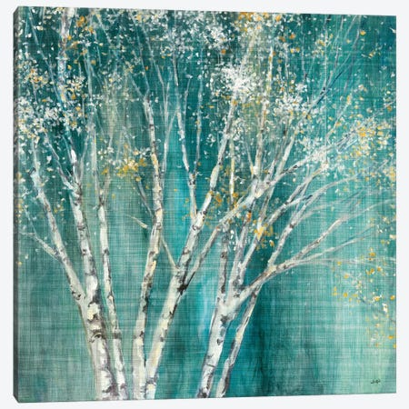 Blue Birch Flipped Canvas Print #JPU24} by Julia Purinton Canvas Print