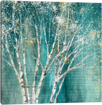 Blue Birch Flipped Canvas Art Print