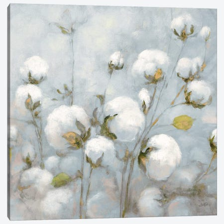 Cotton Field In Blue Gray Square Canvas Print #JPU2} by Julia Purinton Canvas Art Print