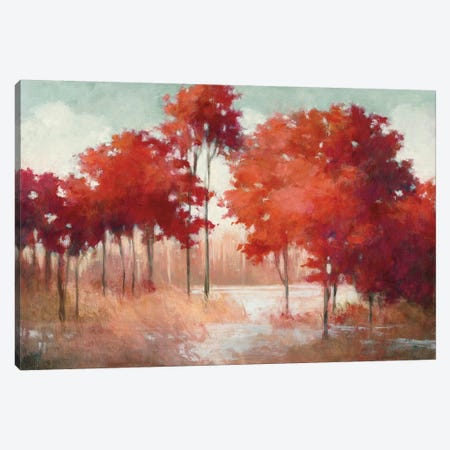 Autumn Lake Canvas Print #JPU31} by Julia Purinton Canvas Art Print