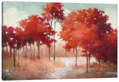 Autumn Lake Canvas Art Print