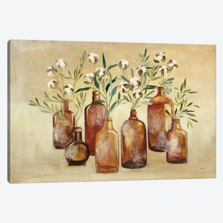 Cotton Still Life I 3-Piece Canvas #JPU36} by Julia Purinton Canvas Wall Art