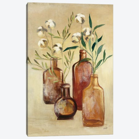Cotton Still Life II 3-Piece Canvas #JPU37} by Julia Purinton Canvas Art