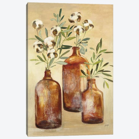Cotton Still Life III 3-Piece Canvas #JPU38} by Julia Purinton Canvas Print