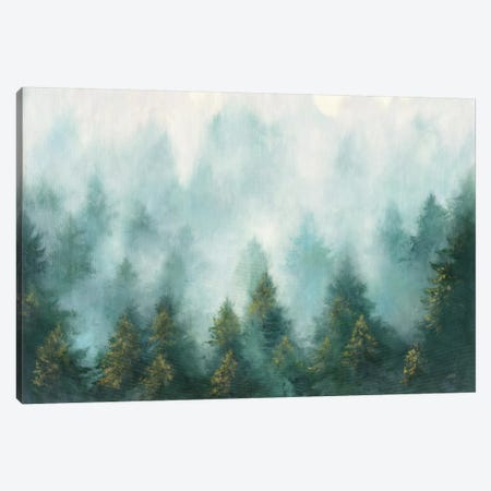 Misty Forest Canvas Print #JPU39} by Julia Purinton Canvas Print