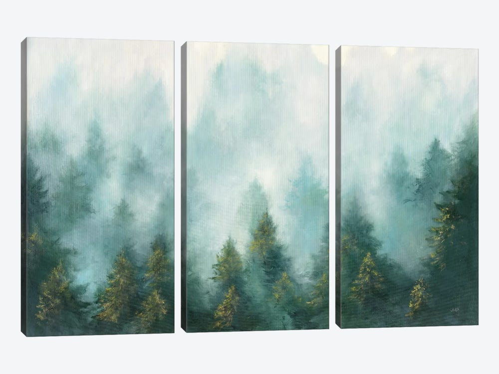 Misty Forest by Julia Purinton 3-piece Canvas Wall Art