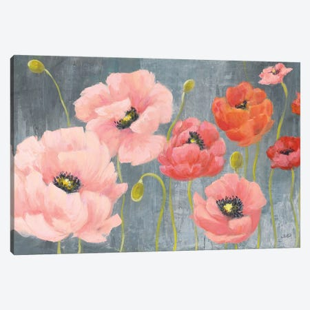 Poppy Party 3-Piece Canvas #JPU40} by Julia Purinton Canvas Wall Art