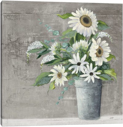 Late Summer Bouquet II Rustic Canvas Art Print