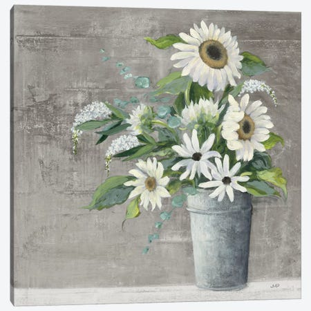 Late Summer Bouquet II Rustic Canvas Print #JPU50} by Julia Purinton Canvas Print