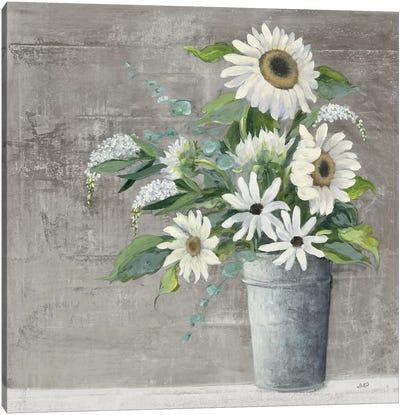 Late Summer Bouquet II Rustic Canvas Art Print