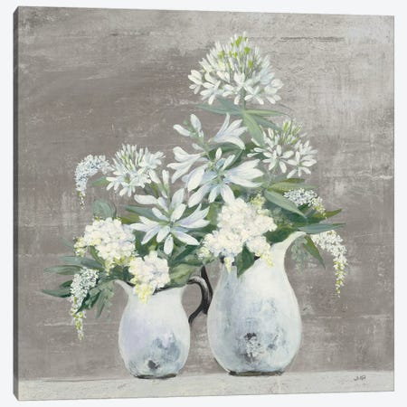 Late Summer Bouquet III Greige Canvas Print #JPU51} by Julia Purinton Canvas Art Print