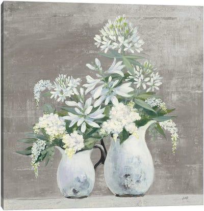 Late Summer Bouquet III Greige Canvas Art Print