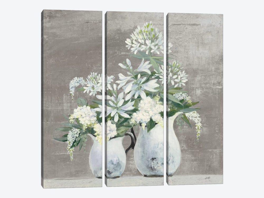 Late Summer Bouquet III Greige by Julia Purinton 3-piece Canvas Artwork